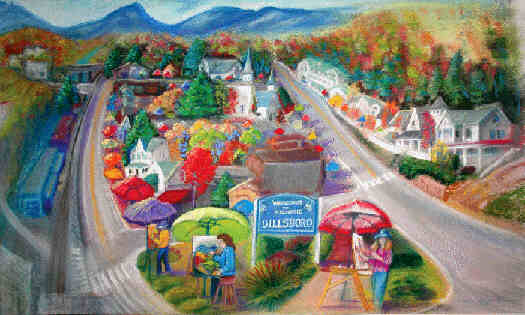 Town view of Colorfest Art Festival in Dillsboro,NC